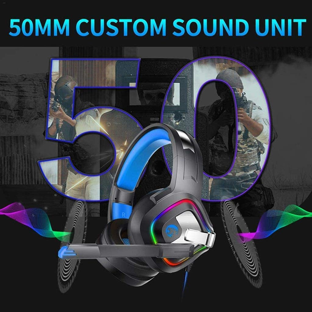 Gaming Headset 4D Stereo Surround Gaming Headset with Microphone RGB LED Light for PC Laptop PC Game Players