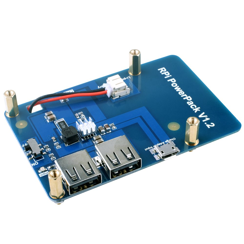 kuman Lithium Battery Pack Expansion Board Power Supply Switch + Micro USB Cable Raspberry Pi 3 Model B, Pi 2 Model B & Pi 1 Model B+ A+ A KY68 by kuman (Image #2)