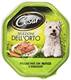 Cesar - Selezioni dell'Orto, Delicato Paté con Manzo e Verdurine, per Cani Adulti , 150 g