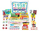 Woodstock Candy 1958 60th Birthday Gift Box – Vintage Nostalgic Candy Assortment from Childhood for Sixty Year Old Man or Woman Born in '58