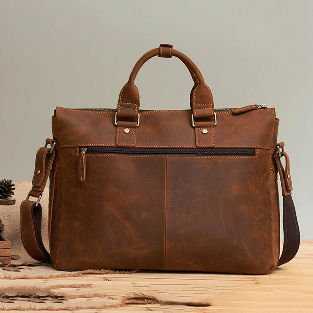 Blue//Brown TLMYDD Business Briefcase Mens Bag Tote Mens Shoulder Crossbody Bag Color : Blue 42x32x9cm Briefcase