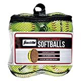 Franklin Sports MLB Official League Synthetic Cork Softball with Mesh Bag (4-Piece), Yellow, 12-Inch