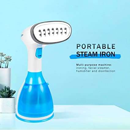 Clothes Steamer for Home Travelling Portable Steam Iron 15 Seconds Fast-Heat 1500W Powerful Garment Steamer