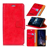 TOTOOSE Nokia 6.1 Plus Case, [Portable Wallet ] [ Slim Fit ] Heavy Duty Protective Phone Case Slim Flip Cover Wallet Case for Nokia 6.1 Plus - Red