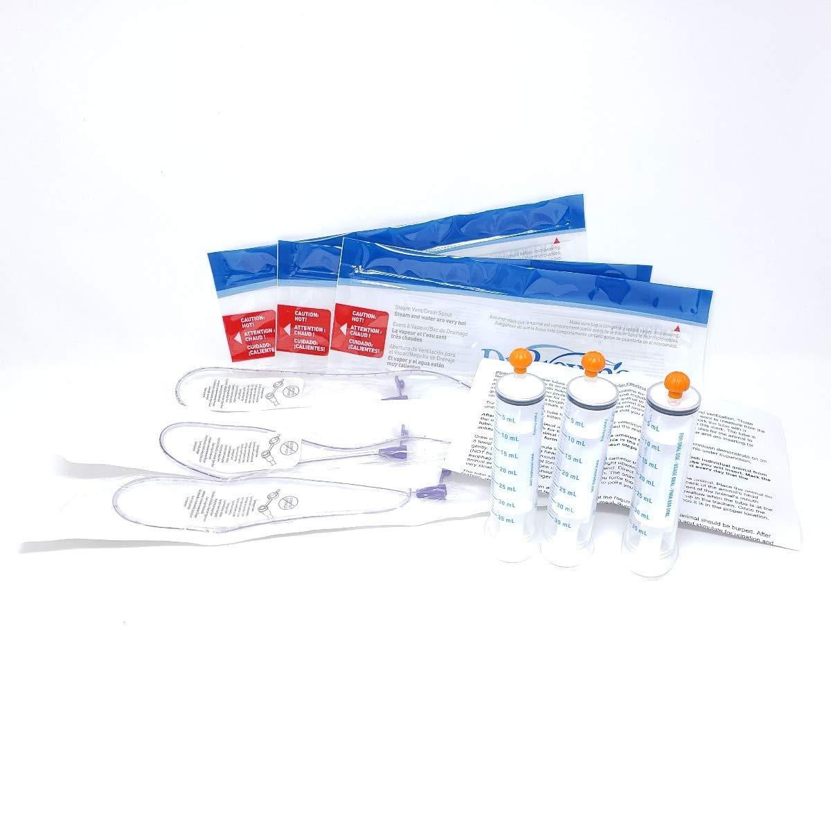 Lifeline 8Fr Clear Tube Feeding Kit - 3 Part by Lifeline Pet Supplies