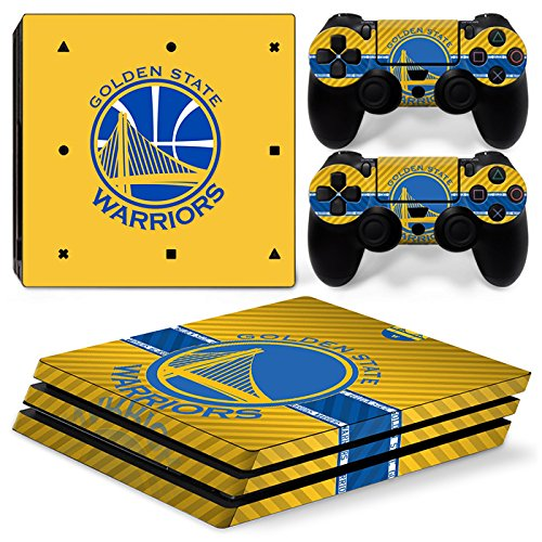 FriendlyTomato PS4 Pro Console and DualShock 4 Controller Skin Set - Basketball NBA - PlayStation 4 Pro Vinyl