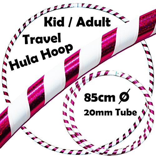 Pro Hula Hoop for Kids or Adults - Quality Weighted Travel Hula Hoop For...