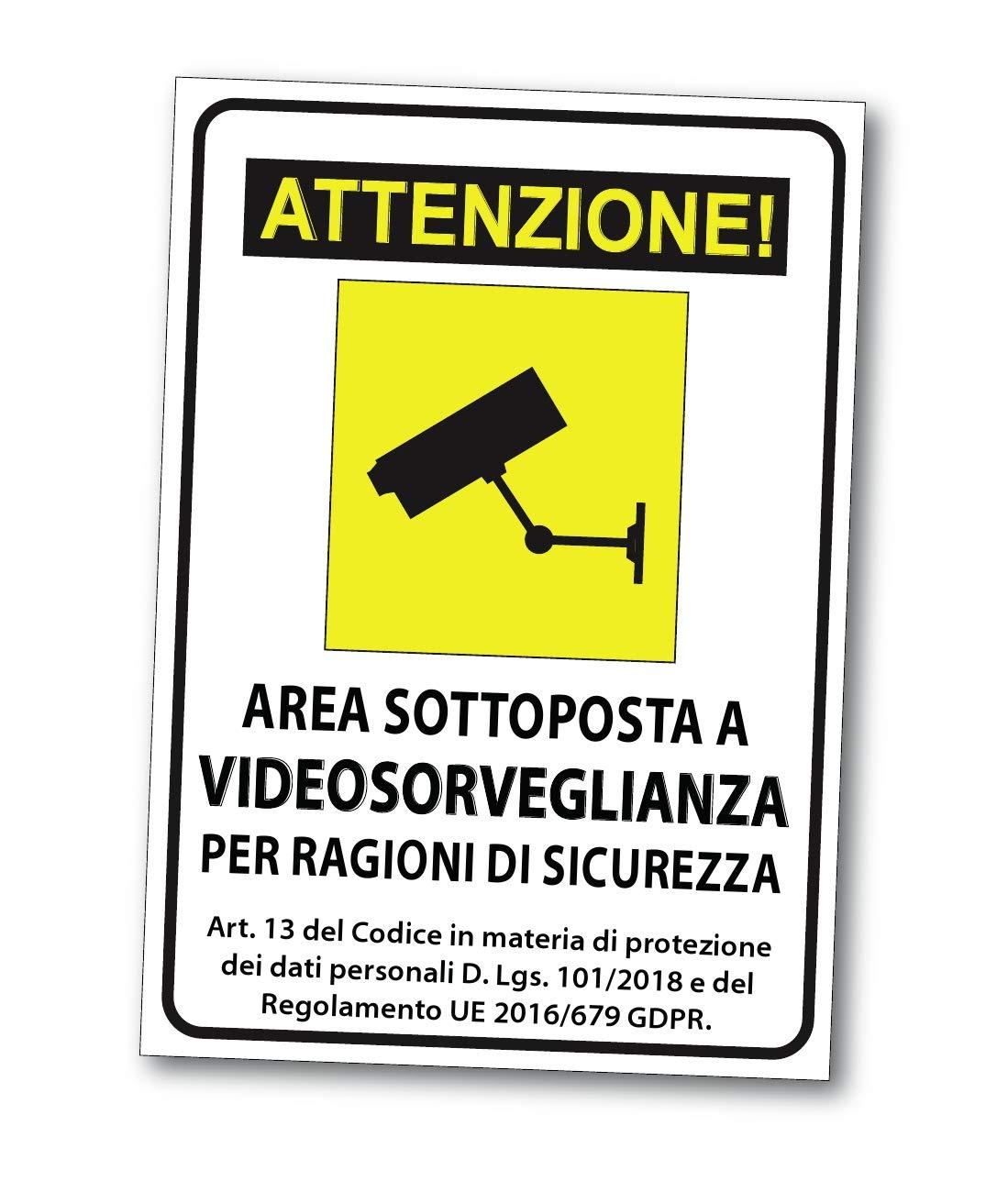 Attenzione. - Señales cartel Videovigilancia de PVC ...
