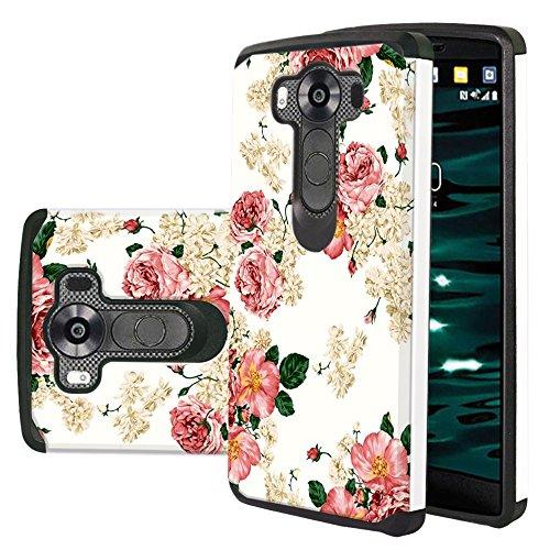 LG V10 Case, Harryshell(TM) Shock Absorption Drop Protection Hybrid Dual Layer Armor Defender Protective Case Cover for LG V10 (Best Lg V10 Case)