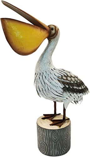 N/H Coastal Decor Ocean's Perch Pelicans Bird Statue