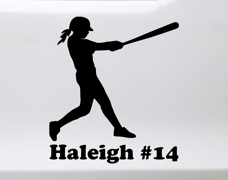 "Laptop Sticker 6/"" Baseball Player Batting Swinging Vinyl Die Cut Car Decal"