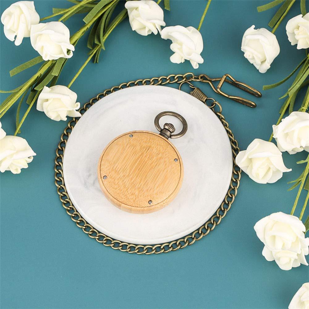 ZYZED fickur bambu trä fickur kvarts rörelse romersk digital display rund urtavla brons antik hänge halsband ny 2019 Trä