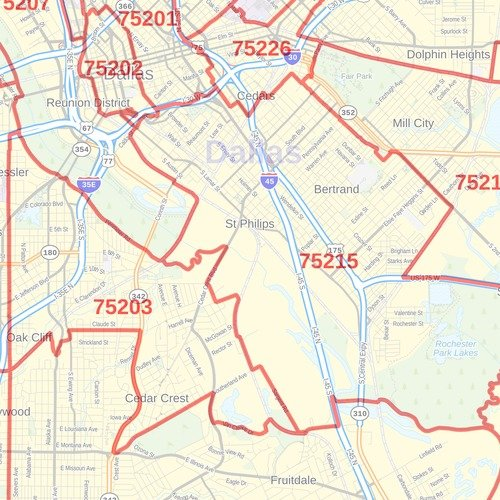 Amazon.: Dallas County, Texas Zip Codes   48