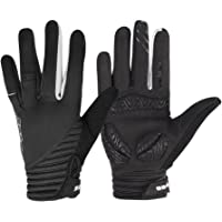 WOTOW Windproof Cycling Gloves, Full Finger Touch Screen EVA Pad Shock Proof Silicone Non Slip Cycling Gloves for Men Women Autumn Spring Winter Bike Riding Motorcycle Driving Outdoor