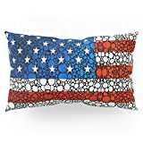 Society6 American Flag - USA Stone Rock'd Art United States Of America Pillow Sham King (20'' x 36'') Set of 2