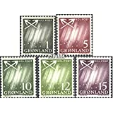 Denmark - Greenland 47-51 (Complete.Issue.) 1963 Northern Lights (Stamps for Collectors)