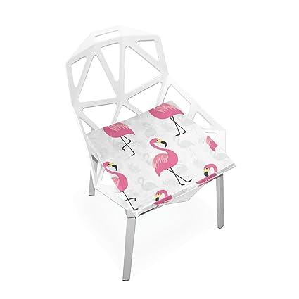 Amazon.com : PLAO Seat Cushion Pad, Pink Flamingo Cushions ...