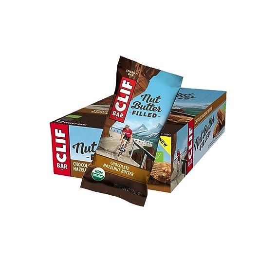 Barrita energética de avena rellena de crema de chocolate y ...