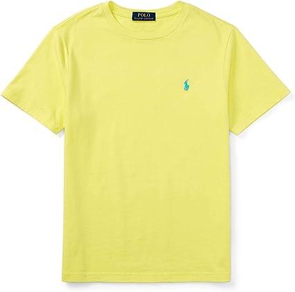 Ralph Lauren Polo para hombre, ajuste personalizado, cuello redondo, logo pony - Amarillo - Medium: Amazon.es: Ropa y accesorios