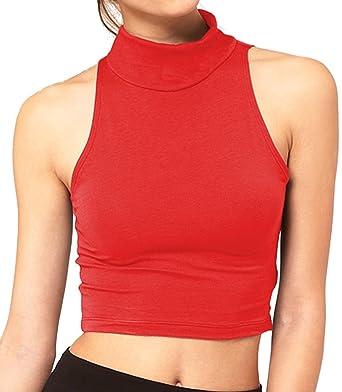 AHR LTD. Polo - Básico - Para Mujer Multicolor Rosso: Amazon.es ...