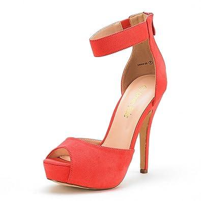 f13a2afaa0a3 DREAM PAIRS SWAN-05 New Women s Ankle Strap Back Zipper Peep Toe High Heel  Platform
