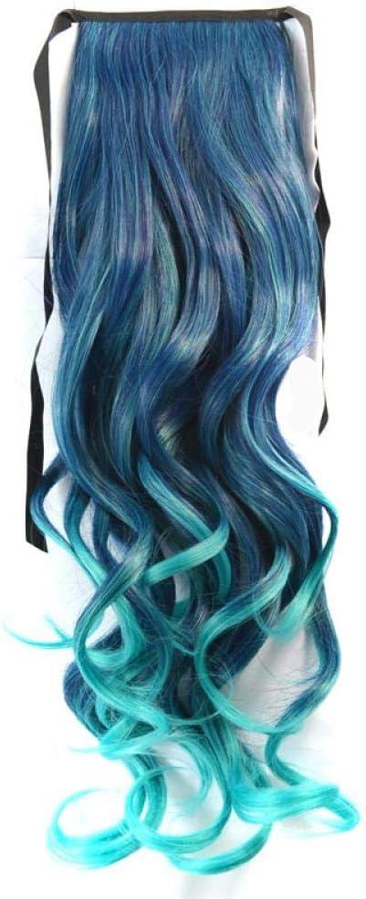 Peluca de degradado de color estilo de banda de pelo largo y ...