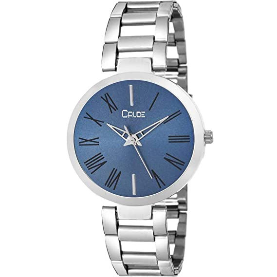0903a5304 Buy Crude rg2040 Silver Chain Blue dial Watch for Women & Girls Online at  Low Prices in India - Amazon.in