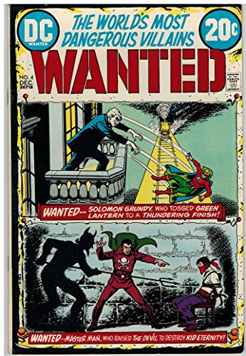 Wanted  1972  4 F Vf Dec 1972 Solomon Grundy Green Lan