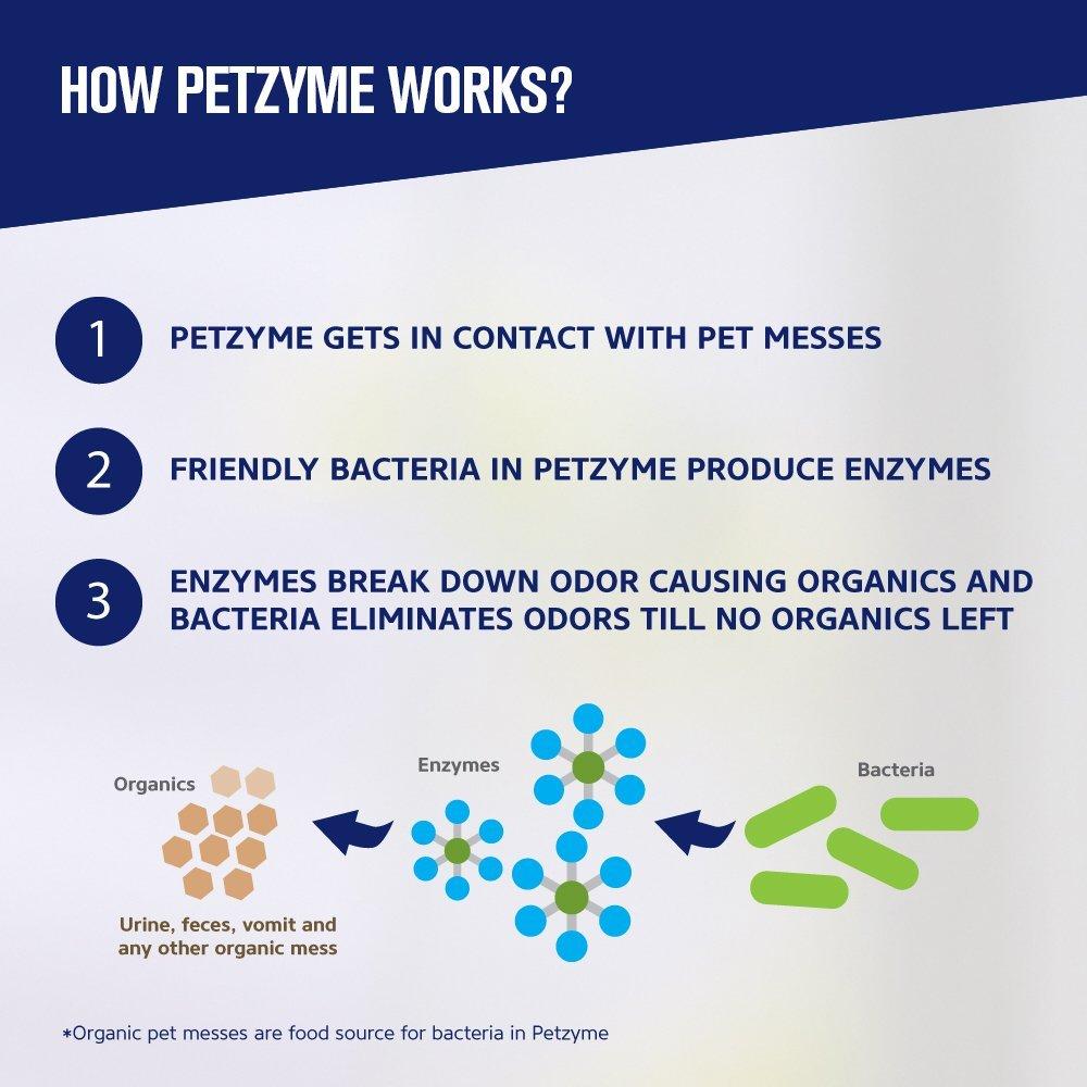 petzyme Pet quitamanchas y olor Eliminator, Enzima limpiador para perros, gatos orina, heces y más: Amazon.es: Productos para mascotas
