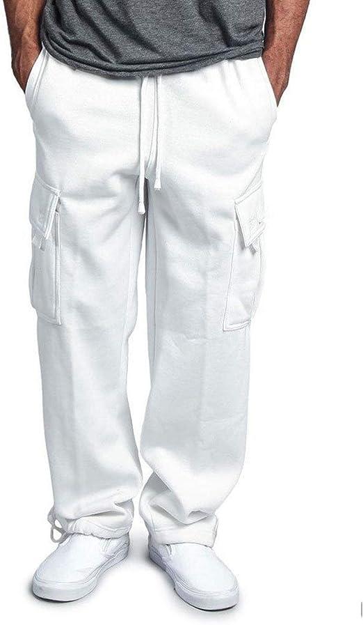 Zestion Pantalones Cargo Rectos para Hombre, Pantalones de ...