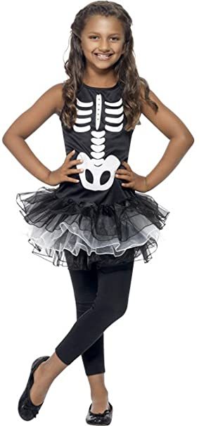 SMIFFYS Costume da Halloween scheletro tutù costume completo outfit nero    bianco 9e560c5657d7