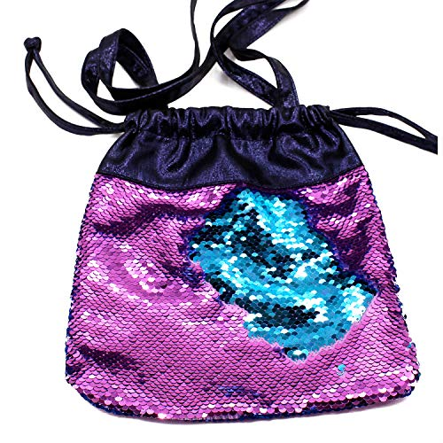 7c588c128d8d SOOCUTE Small Size Mermaid Sequin Drawstring Bags Shoulder Tote, Reversible  Sequin Gym Pouch Magic Glittering School Bag Cute Gift for Girls Kids ...