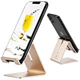 Cell Phone Desk Stand Holder - ToBeoneer Aluminum Desktop Solid Portable Universal Desk Stand for All Mobile Smart Phone Tabl