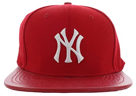 the best attitude 13864 826b0 ... strapback adjustable hat c27f8 bacaf  discount image unavailable. image  not available for. color new york yankees pro standard red