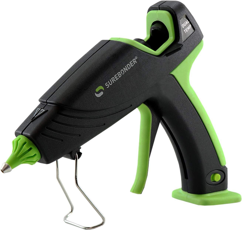 Surebonder Auto Shut Off Hot Glue Gun, Dual Temperature, Full Size, 2.5X Power of Full Size Glue Guns, Easy-Adjust Temp for Multiple Projects (Ultra Series )