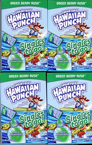 Hawaiian Punch GREEN BERRY RUSH Singles to Go (4 Boxes of 8 Packets in Each Box) by N/A -