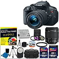 Canon EOS Rebel T5i 18.0 MP CMOS Digital Camera HD Video with EF-S 18-55mm f/3.5-5.6 IS STM Zoom Lens With T5i/700D For Dummies + UV Filter Kit with 24GB Complete 17 Deluxe Accessory Bundle Review Review Image
