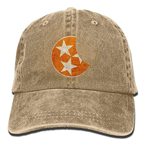(Unisex Adult 2017 Tennessee Total Solar Eclipse Washed Denim Cotton Sport Outdoor Baseball Cap Trucker Hat Adjustable One Size)
