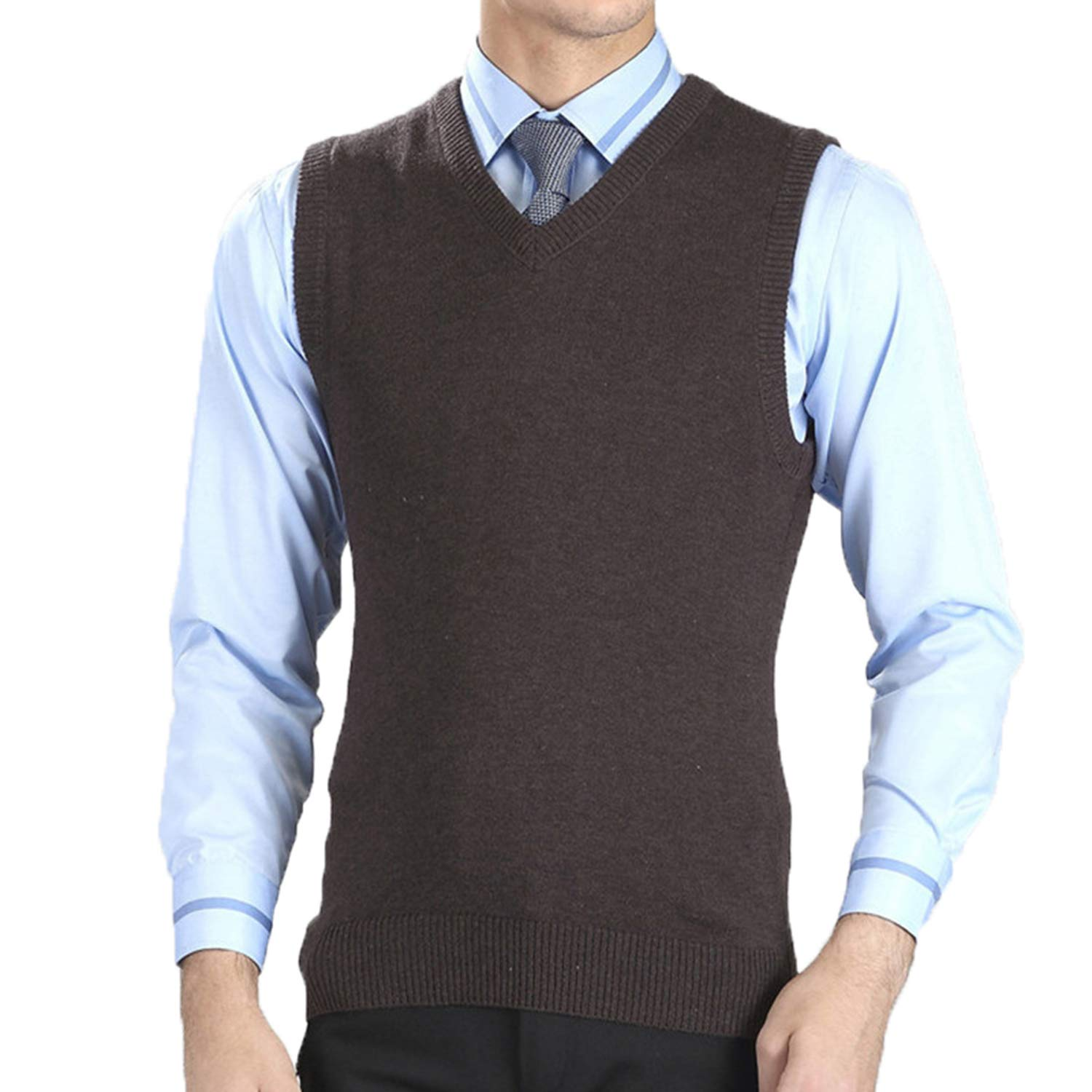 LOG SWIT Mens Vest Sweaters Casual Style Wool Knitted Business Men Sleeveless Vest
