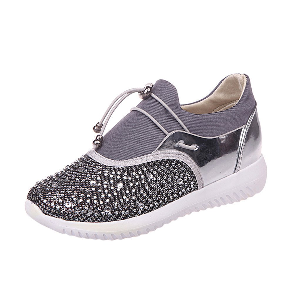 Sneakers Unisexes Femmes 4445 Sneakers Hommes, Yesmile Occasionnels Unisexes Chaussures pour Chaussures Hommes Argent 55c90cd - digitalweb.space