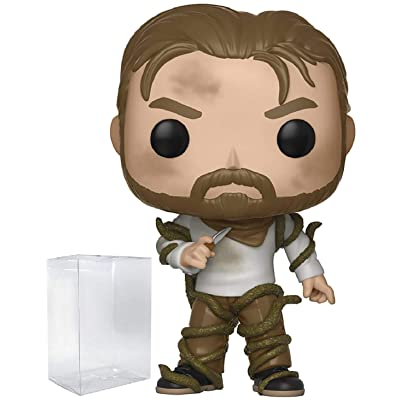 Funko Pop! Stranger Things - Hopper with Vines Vinyl Figure (Bundled with Pop Box Protector Case): Toys & Games