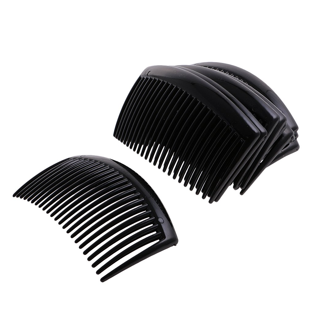 Dovewill 12pcs Plastic Hair Comb Clip Hairclip Side Combs Pin Barrettes 9 x 5cm for Lady