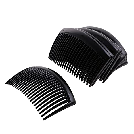 1 x Black Plastic Side Clip Hair Comb Women Girls Slide Headwear Accessory