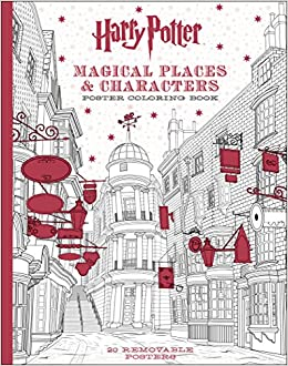 harry potter magical places characters poster coloring book scholastic 9781338132922 amazoncom books - Coloring Book Harry Potter