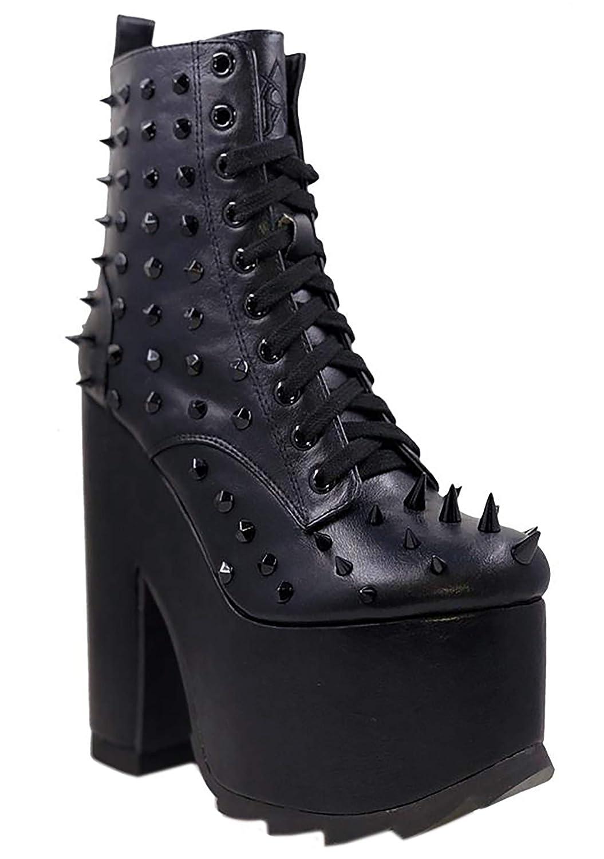 081c46357f8b Y.R.U. YRU Night Terror Platform Boots in Black