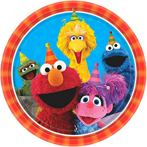 Another Dream Sesame Street Birthday Party Pack for 16 with Plates, Napkins, Cups, Tablecover, and Candles