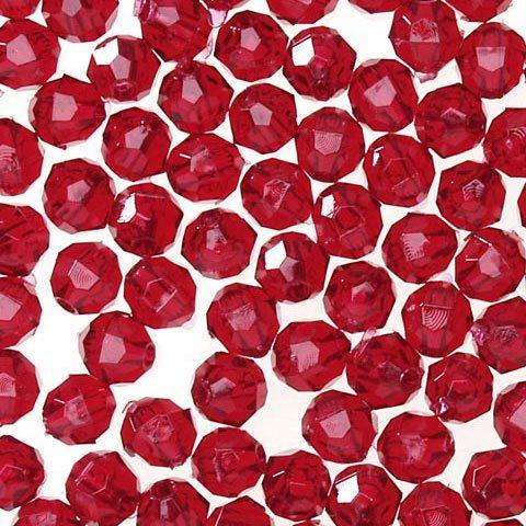 Darice Bulk Buy DIY Faceted Plastic Beads Transparent Ruby 8mm 480 Pieces (1-Pack) 06101-5-T20 ()