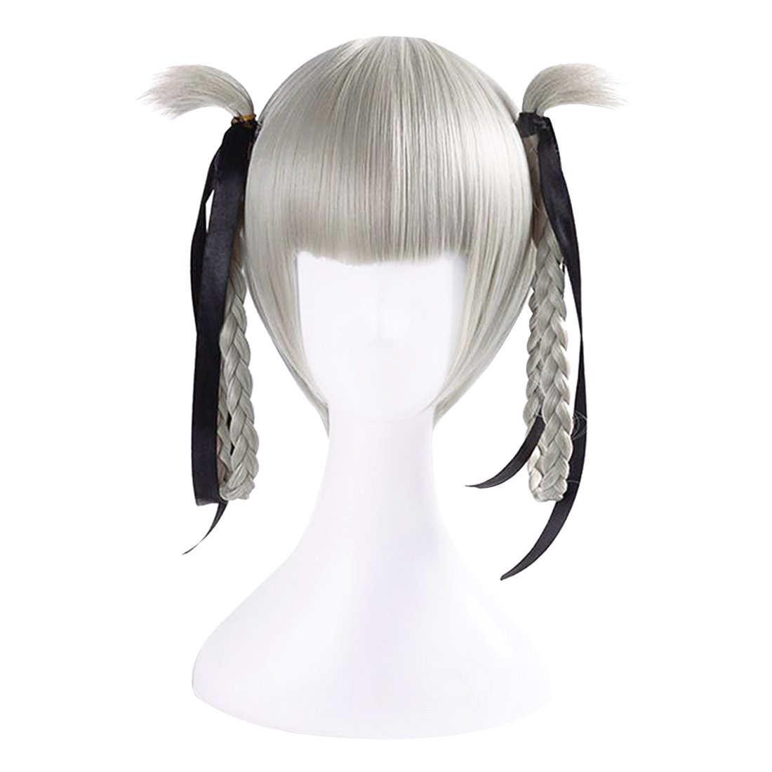 Kirari Momobami Kakegurui Cosplay Braid Hair Wig Hair accessory Gray