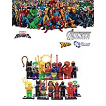 ABG toys Minifigures MARVEL DC Comics Avengers X-Men Super Heroes Minifigure Series Building Blocks Sets Toys