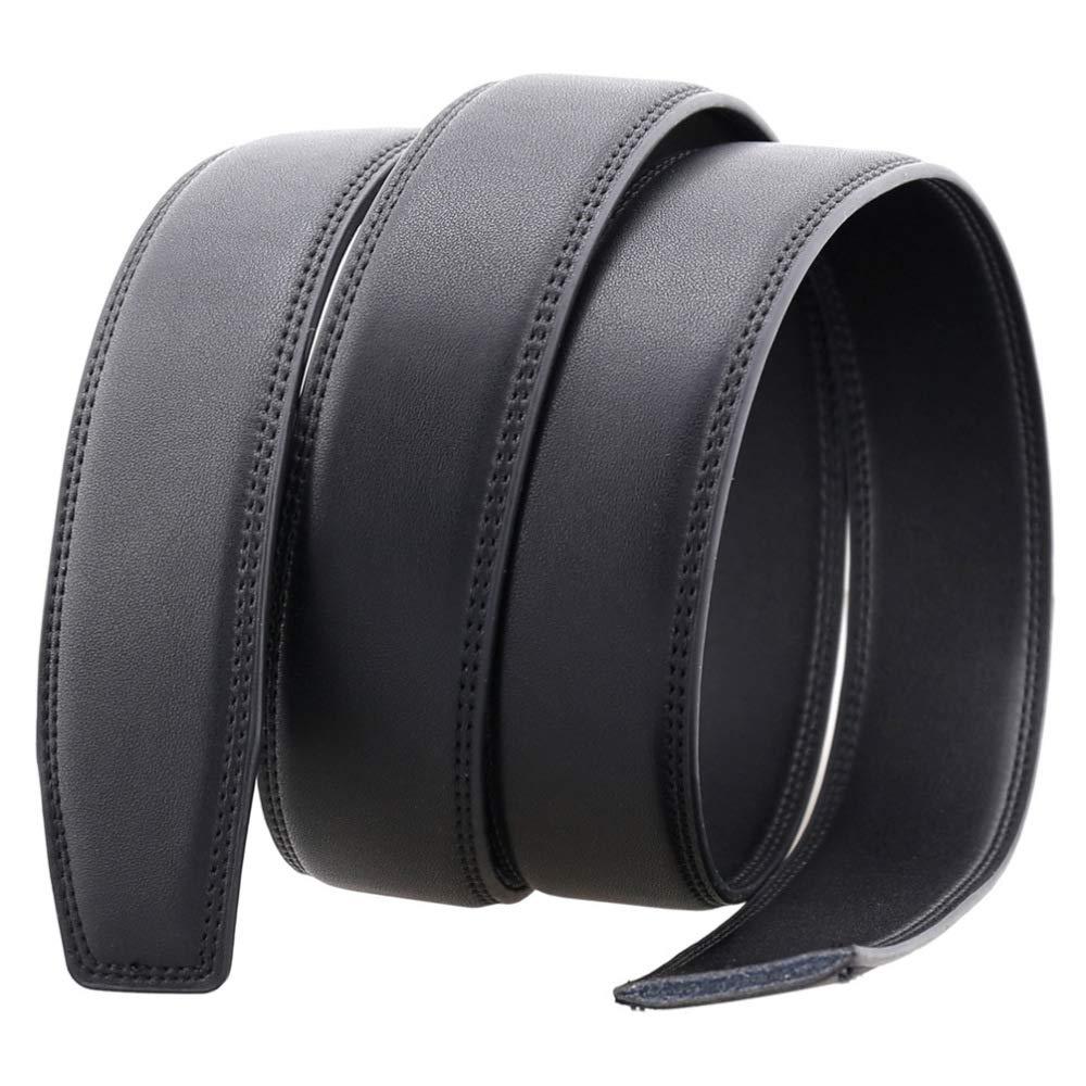 DENGDAI Mens Leather Belt Leather Belt Automatic Buckle Belt Length 110-130cm